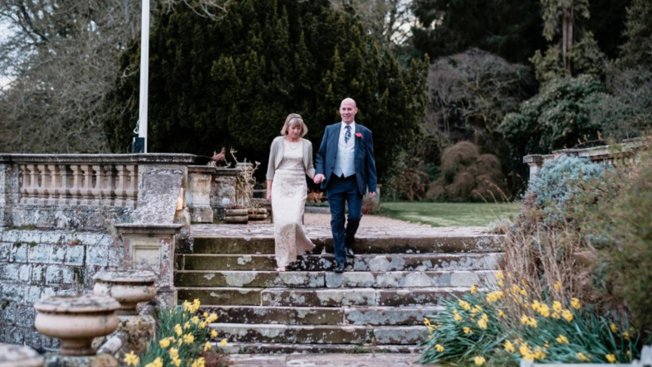 Older couple wedding Escot